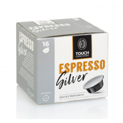 96 Capsule Touch Coffee System Miscela Silver